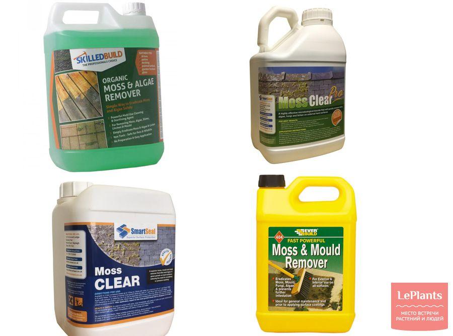 препараты для удаления мха с газона