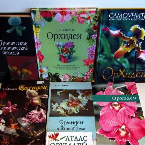 Несколько книг про орхидеи.