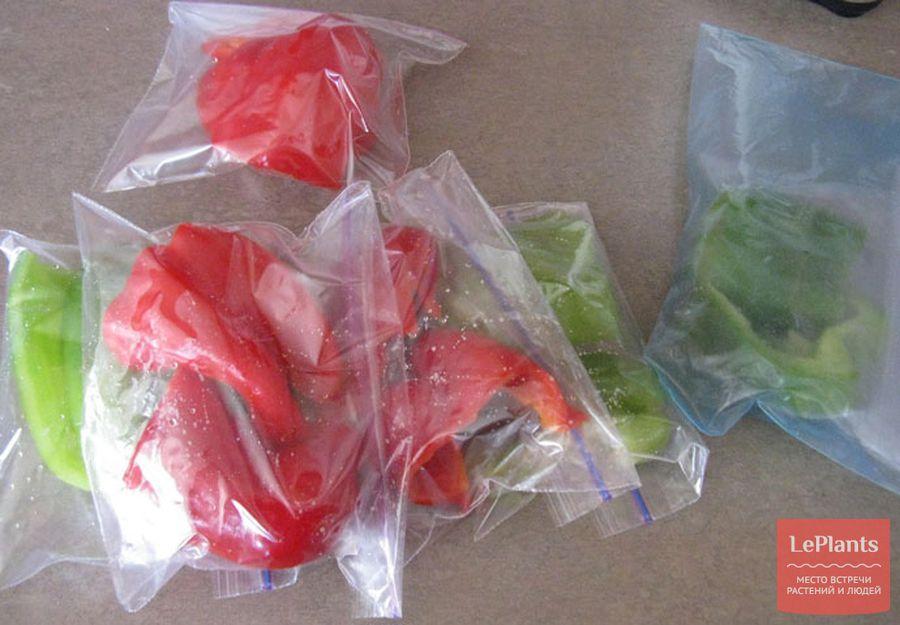 Хранение перца в полиэтиленовом пакете