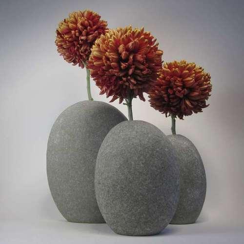 Вазы из морских камней